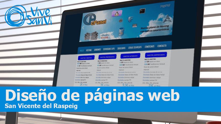 Diseño de páginas web en San Vicente del Raspeig